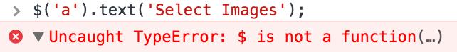 jquery-error